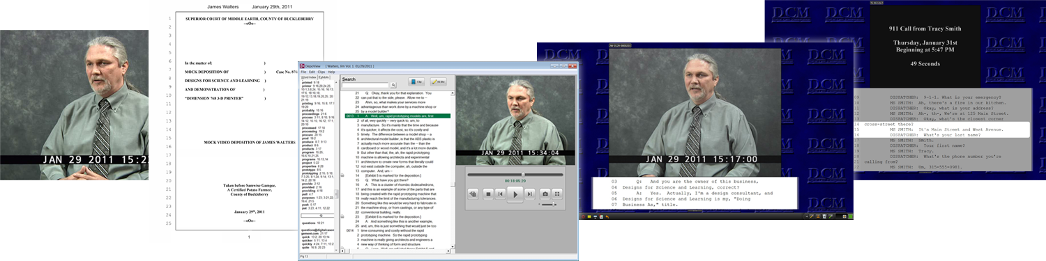 Deposition Video Synchronizing